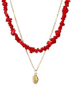 collier multirang coquillage