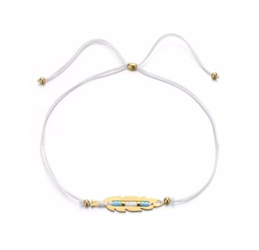 Bracelet boheme blanc
