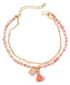 Bracelet double chaine doree