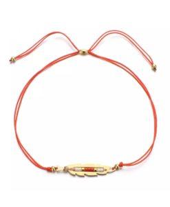 Bracelet boheme rouge