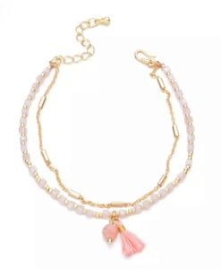 Bracelet double chaine perles