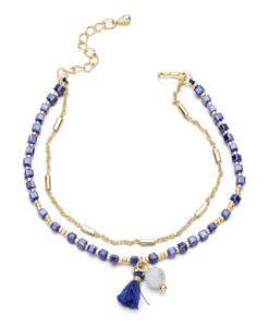 Bracelet double chaine tendance