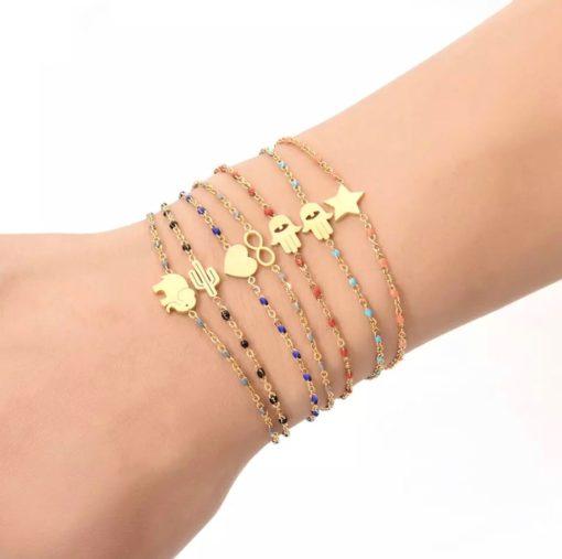 Bracelet etoile pierre fine