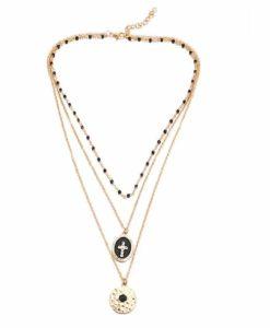 Idee cadeau femme- collier medaille martelee