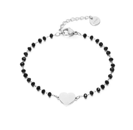 Bracelet femme coeur argent
