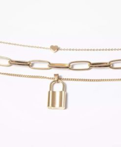 Collier maillons- dore