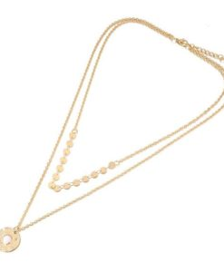 Collier multi rangs en plaque or