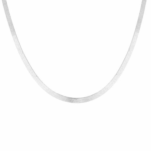 Collier simple - plaque argent