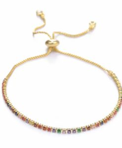 Bracelet tendance 2020- strass multicolore