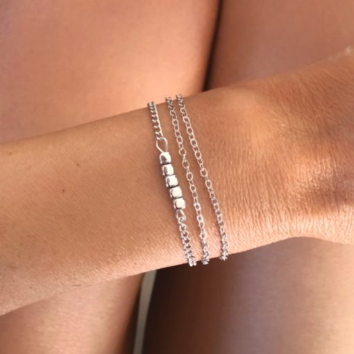 Bracelets tendance 2021- Bracelet Chaine Fine argente