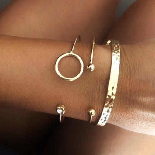 Bracelets tendance 2021- Lot de 3 bracelets jonc