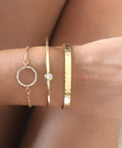 Bracelets tendance 2021- Lot de 3 bracelets or