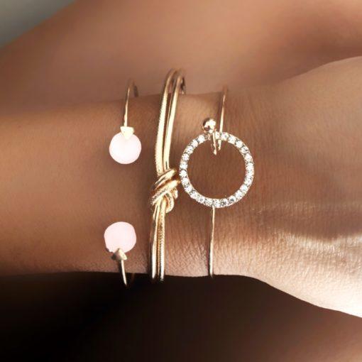 Bracelets tendance 2021- Trio de bracelets fantaisie