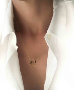 collier pendentif vague surf